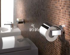 Držiak toaletného papiera s krytom Emco Vara