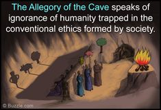 Plato's Allegory of The Cave: Meaning and Interpretation - Penlighten School Of Philosophy, My Philosophy, Cave Quotes, Allegory Of The Cave, Flat Earth Facts, Plato Quotes, The Tell Tale Heart, Western Philosophy, Critical Theory