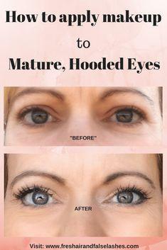 eye makeup for hooded eyes / eye makeup . eye makeup for brown eyes . eye makeup for blue eyes . eye makeup tutorial for beginners . eye makeup for hooded eyes Makeup Tricks, Eye Makeup Tips, Hair Makeup, Makeup Ideas, Makeup Eyeshadow, Hair And Makeup Tips, Eyebrow Makeup, Glow Makeup, Eye Liner Tricks
