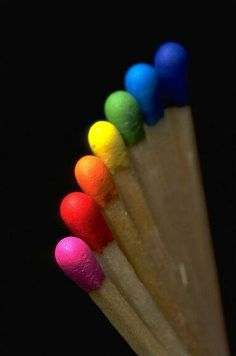 Christian Holst ~ Rainbow Matches -I don't know this but I'm pretty sure the flame is the color of the match
