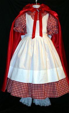 Little RED RIDING HOOD Dress/Costume Set Custom Child by mom2rtk