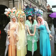 Ostara parade. Bringing Easter dawn in with style. #headdress #easter #neworleans #flowers #nola #jacksonsquare #frenchquarter #pastel by c_to_the_line