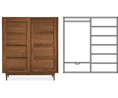 Room & Board - Grove Anywhere Armoire with Long Wardrobe & 1 Drawer