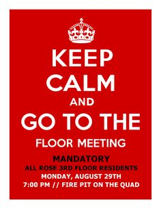 opening floor meeting flyer