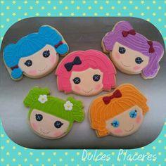 Lalaloopsy. Galletas decoradas con glasa. #dulcesplaceresbymer www.facebook.com/dulcespaceresbymer  Instagram @dulcesplaceresbymer