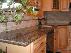 Tile Backsplash To Coordinate With Baltic Brown Granite | Master Granite  Marble Tile Tile Stone Countertops