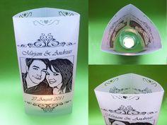 Hochzeitsdeko - Foto - Windlicht (dreieckig) - ein Designerstück von Fotogruesse bei DaWanda