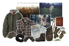"""""""we were never welcome here"""" by toripete ❤ liked on Polyvore featuring Overland Sheepskin Co., H&M, Denham, Barbour and V AVE SHOE REPAIR"""
