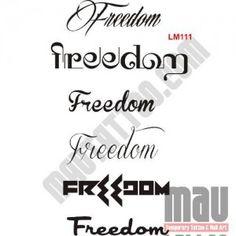 Freedom | Tato Huruf Bagus | Mautattoo |Tato Temporer & Tato Kuku – Jakarta