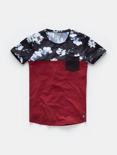 print T-shirt bordeaux