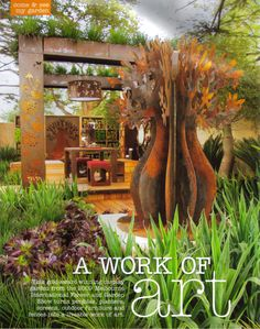 metal sculptures for the garden | ... garden, especially the succulents growing on the walls, and the metal