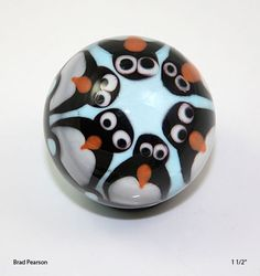 We are Watching Penguin Marble Brad Pearson SRA. , via Etsy.