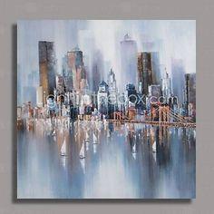 Peint à la main peinture à l'huile abstraite moderne avec cadre étiré prêt à accrocher de 2015 à €75.99