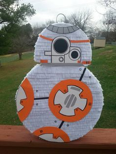 Check out this item in my Etsy shop https://www.etsy.com/listing/262036728/bb-8-inspired-pinata-star-wars-party-the