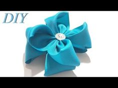 Como hacer par de Lazos Jovencitas Elegantes/Diy: Moños pequeños /vídeo 608 - YouTube