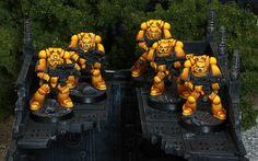 Imperial Fists Space Marine squad