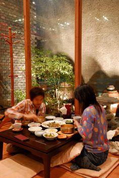 Interior of Gogung restaurant, Insadong.