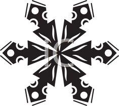 iCLIPART - Snowflake Silhouette Illustration