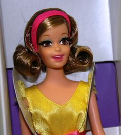 VHTF Mod BECKY PROTOTYPE in Yellow Fashion Vintage Barbie NEW DeBoxed Repro