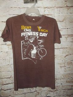 5f850463ac7d Distressed YMCA Bran Chex Fitness Day Shirt Vintage 70 s 80 s Faded 50 50  USA ~S