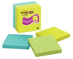Shop Post-it Super Sticky Notes, 4 x 4-Inches, Assorted Colors with Printed Pattern, 6-Pads/Pack online at lowest price in india and purchase various collections of Business Paper Products in 3M Office Products brand at grabmore.in the best online shopping store in india