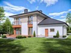 Projekt Domena 311 B 147,76 m2 - koszt budowy 225 tys. zł - EXTRADOM Home Fashion, Mansions, House Styles, Home Decor, Projects, Mansion Houses, Decoration Home, Manor Houses, Villas