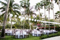 Outdoor Beach Reception With Paper Lanterns | photography by http://umeusstudios.com | floral design by http://www.mazartefloral.com | wedding planning by http://www.mayecortinas.com
