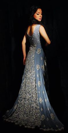 SO in love with this. #Anarkali #blue WOW