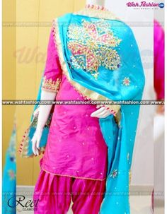 Give yourself a stylish & punjabi look with this Mesmeric Pink Hand Embroidered Punjabi Suit. Embellished with embroidery work & lace work. Available with matching bottom & dupatta. It will make you noticable in special gathering. For more details Whatsapp us on +919915178418