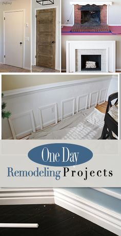 One Day Remodeling Projects • How to update your home in just one day! DIY projects you can do with an afternoon to improve the value of your home!