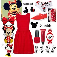 Minnie Mouse Outfit by lolopolo1999 on Polyvore