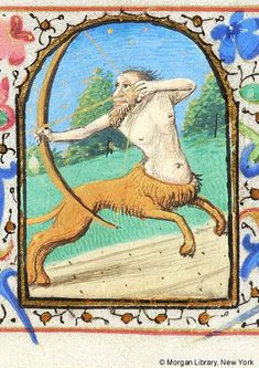 Sagittarius | Book of Hours | France, Loire | ca. 1475 | The Morgan Library & Museum