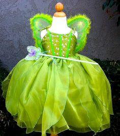 Vestido de Campanita por CNLChildrensApparel en Etsy