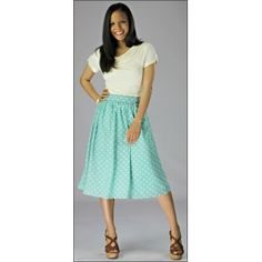 Love how low-maintenance this style looks. Probably use brighter colored-skirt and ditch the heels for sure.