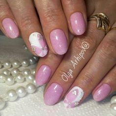 Pretty pink fine glitter with butterfly