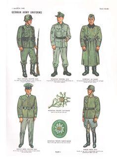 german uniform colors