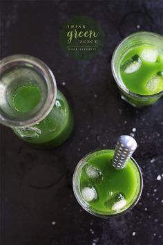 Think Green Juice--going to try this one in the juicer, minus the salt and stevia Juice Smoothie, Smoothie Drinks, Detox Drinks, Healthy Juices, Healthy Drinks, Healthy Smoothies, Green Smoothies, Juicer Recipes, Canning Recipes