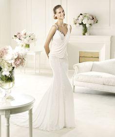 Pronovias präsentiert Ihnen das Modell Unza. Fashion 2013. | Pronovias