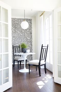 Keith Haring wall decals for that extra POP in a dining room.