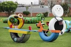 decora tu jardin con llantas - Buscar con Google