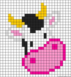 Cow perler bead pattern
