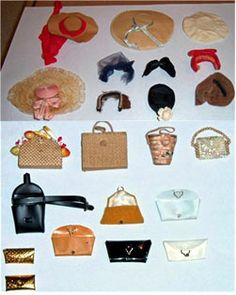 This collection of vintage Barbie hats and purses received 34 bids and sold for $811.89.