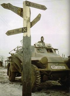 A SdKfz. 223 of the 10th Panzer-Division in Moshaisk, about 100km (about 60 miles) from Moscow.