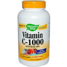 Nature's Way Vitamin C provides powerful antioxidant protection! Perfect for cold and flu season.