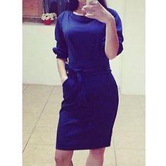 blues damemode causual bodeycon kjole – DKK kr. 75