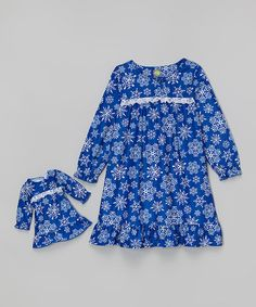 Love this Blue Snowflake Nightgown & Doll Nightgown - Toddler & Girls by Dollie & Me on #zulily! #zulilyfinds