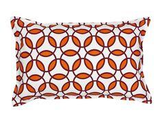 Rings Cotton Canvas Lumbar Pillow