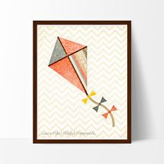 This sweet kite has a vintage feel and will add a touch of whimsy to any nursery, playroom or kid's room.