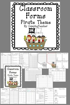 My most popular classroom forms-Pirate Theme! Many teachers are decorating their classrooms with the ever popular pirate theme! The boys love it and the biggest surprise is so do the girls! These classroom forms will fit right along with all your decorating!!!