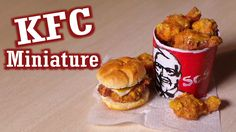 Polymer Clay Tutorial; KFC Inspired Miniature Food Such amazing detail!